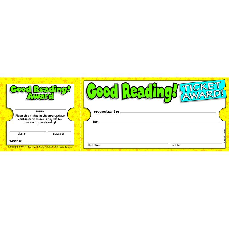 GOOD READING TICKET AWARDS