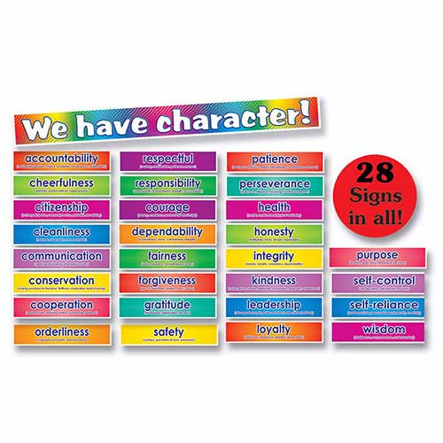 BB SET CHARACTER SIGNS 28 SIGNS