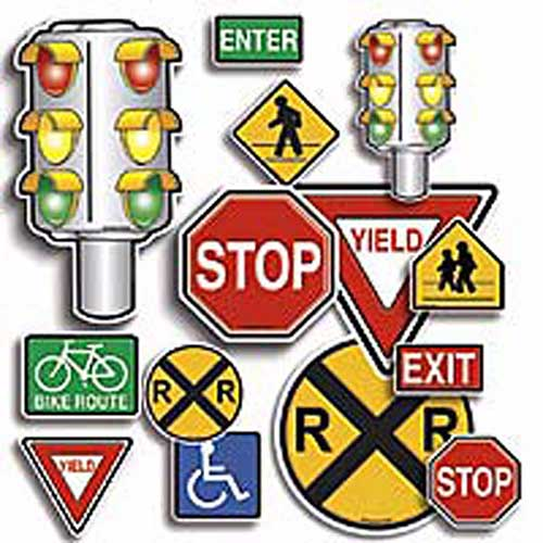 ACCENT PUNCH-OUTS SAFETY SIGNS 36PK