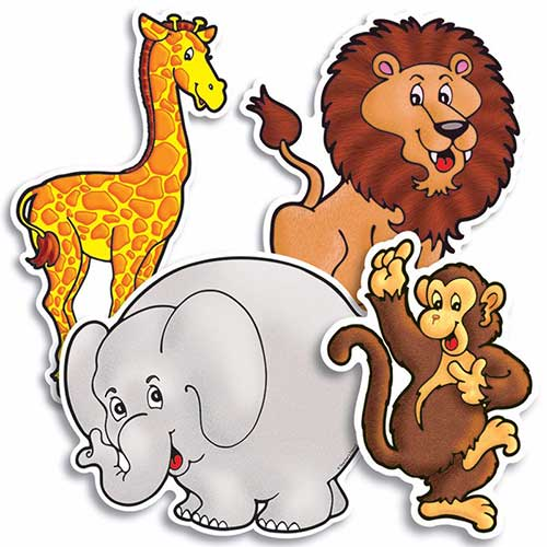 ACCENT PUNCH-OUTS ZOO ANIMALS 36PK