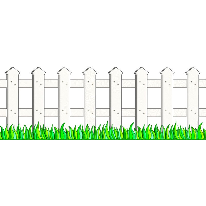 WHITE PICKET FENCE ACCENT PUNCH-OUT