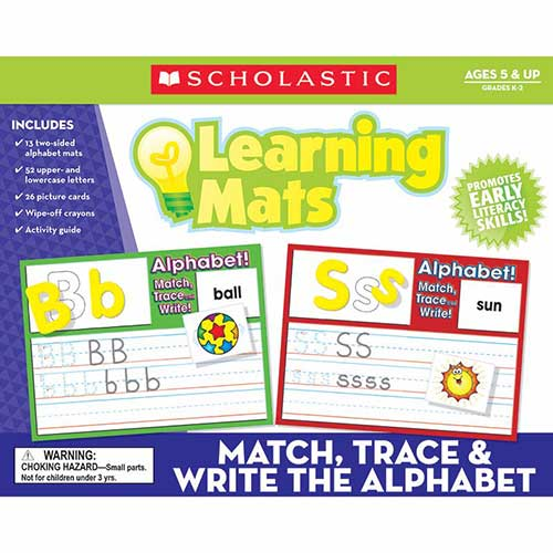 MATCH TRACE & WRITE THE ALPHABET