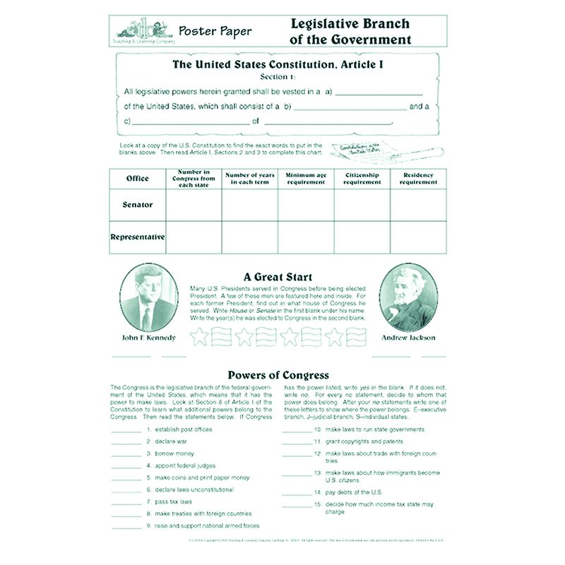 POSTER PAPERS LEGISLATIVE BRANCH