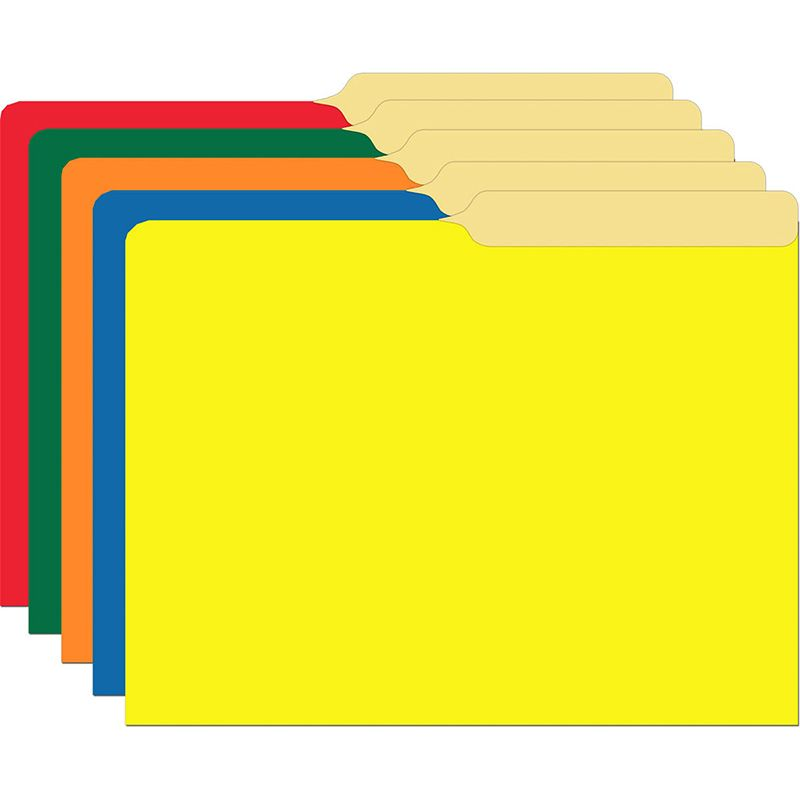PRIMARY ASSORTED FILE FOLDERS HALF
