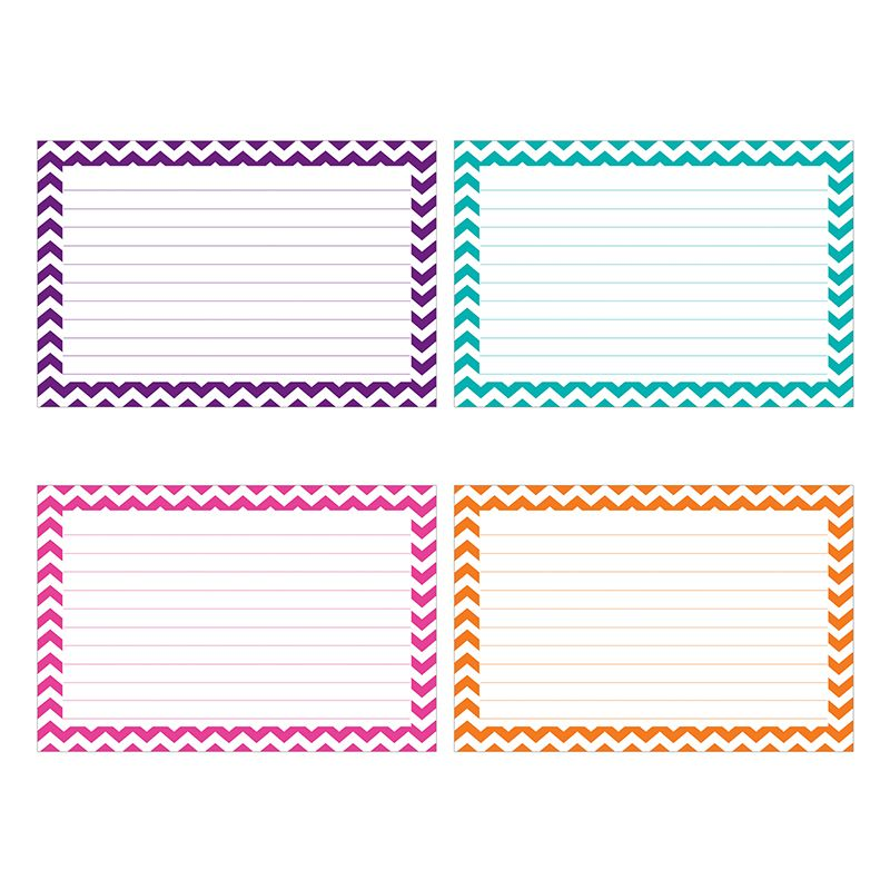 BORDER INDEX CARDS 4X6 LINED 75CT