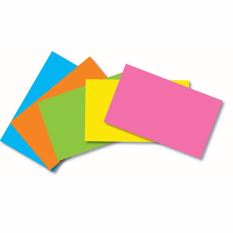 INDEX CARDS 3X5 BLANK 100 CT BRITE