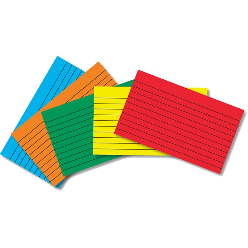 INDEX CARDS 4X6 LINED 75 CT BRITE