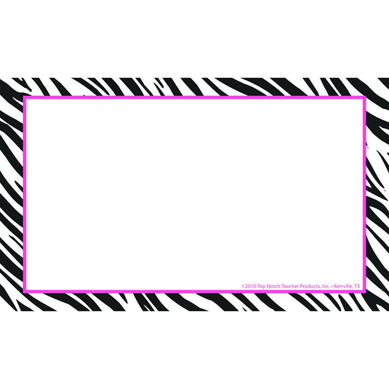 BORDER INDEX CARDS 3X5 ZEBRA BLANK