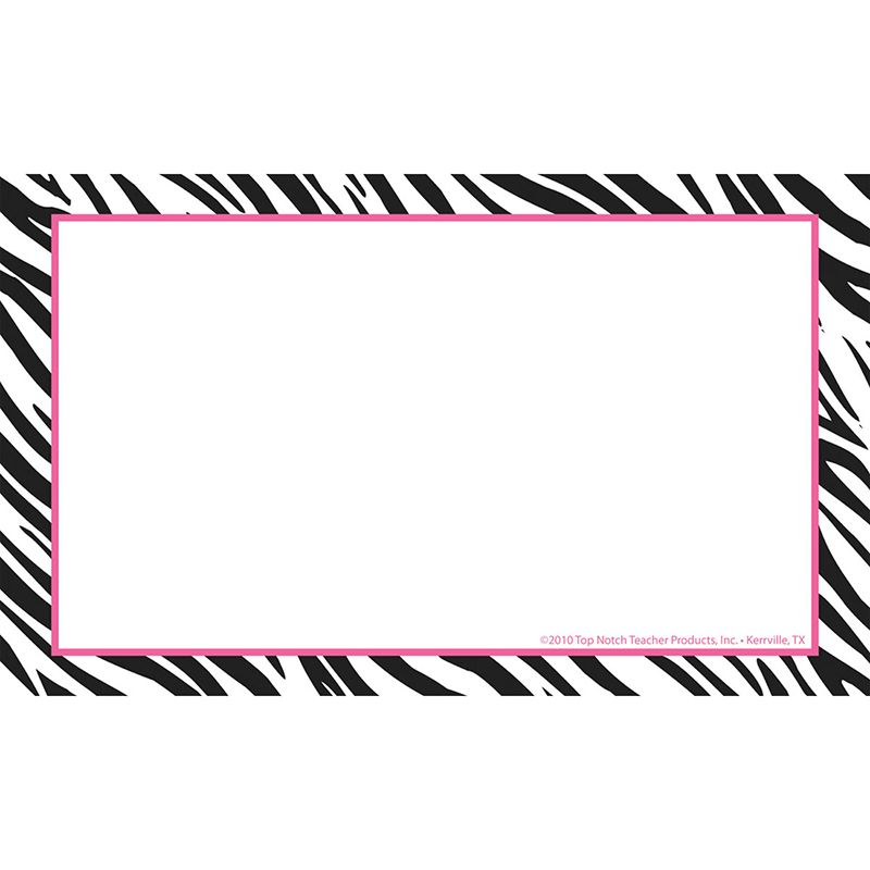 BORDER INDEX CARDS 4X6 ZEBRA BLANK