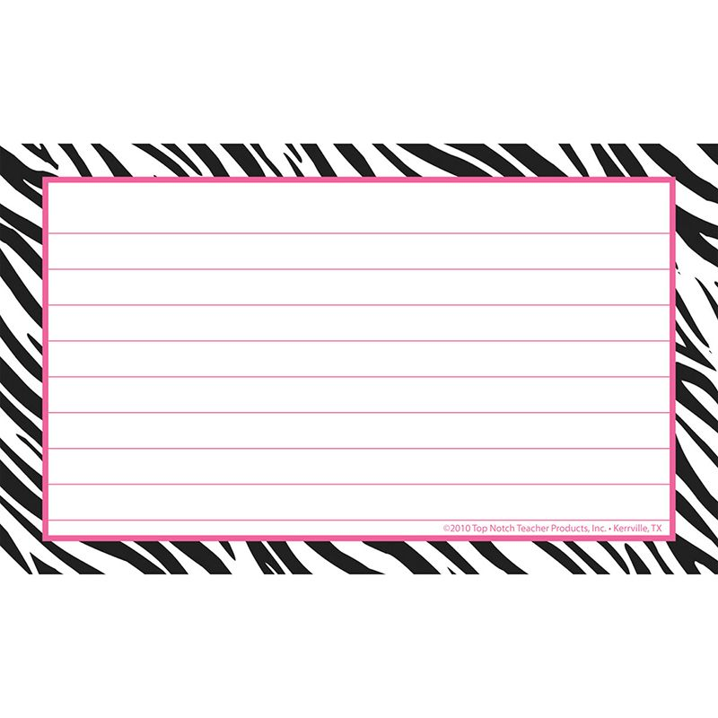 BORDER INDEX CARDS 3X5 ZEBRA LINED