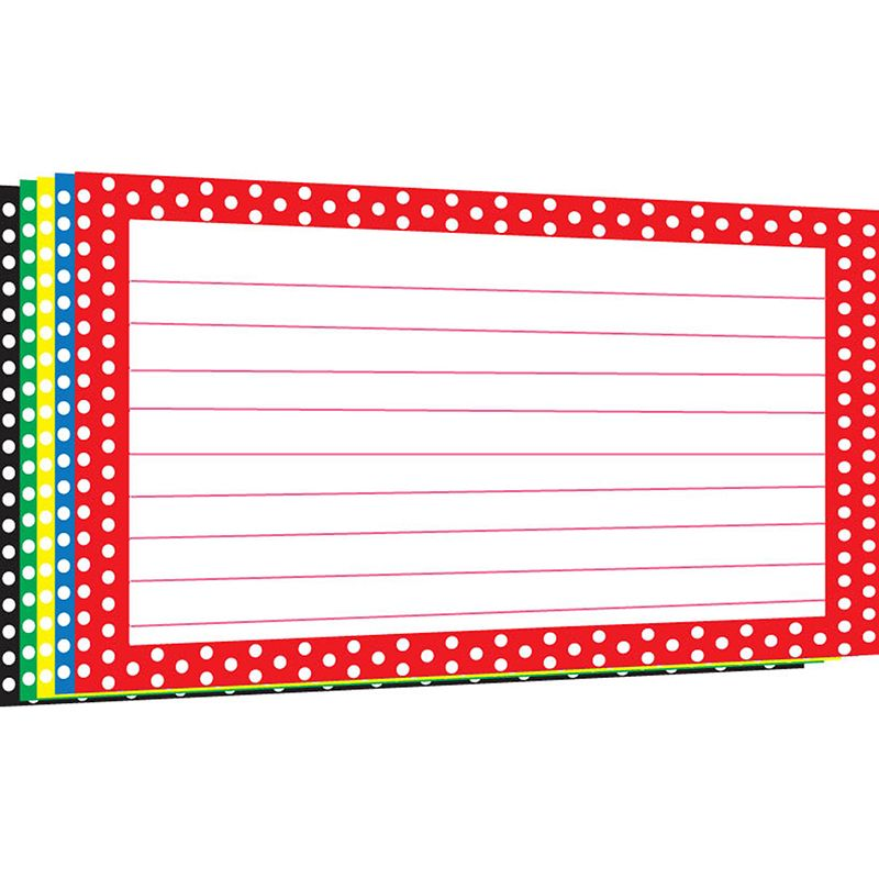 BORDER INDEX CARDS 4X6 POLKA DOT