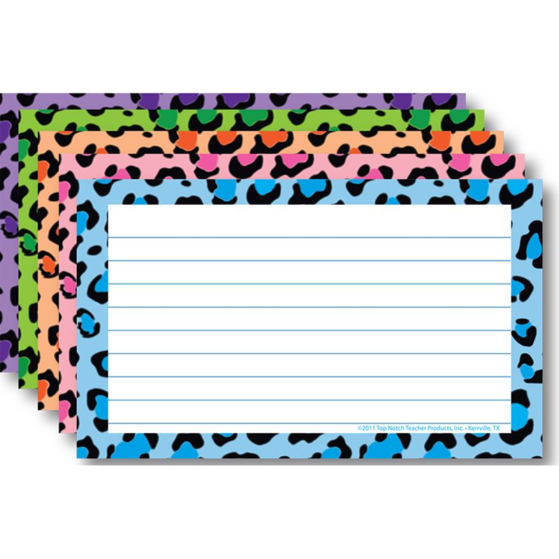 BORDER INDEX CARDS 4 X 6 LINED
