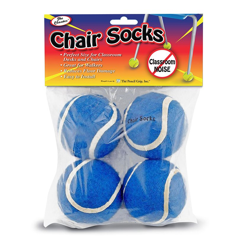 CHAIR SOCKS BLUE 4PK
