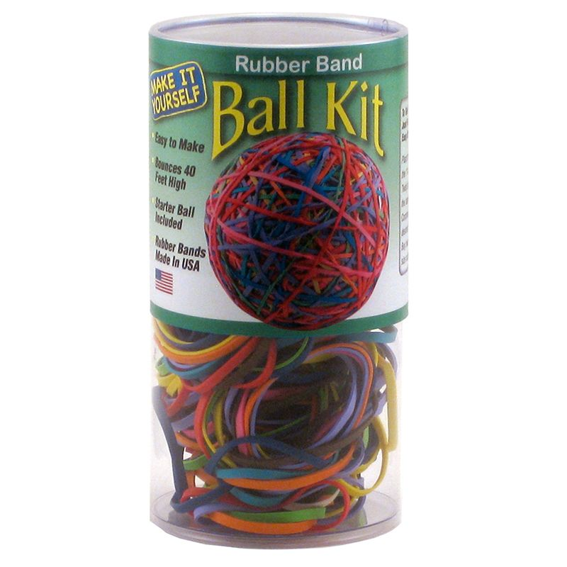 RUBBER BAND BALL KIT IN STORAGE