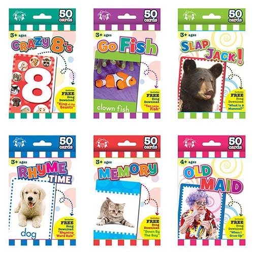 GAME FLASH CARDS SET OF ALL 6