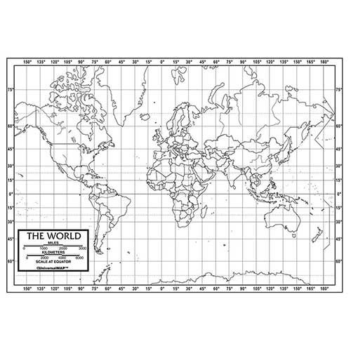 WORLD OUTLINE MAPS PAPER