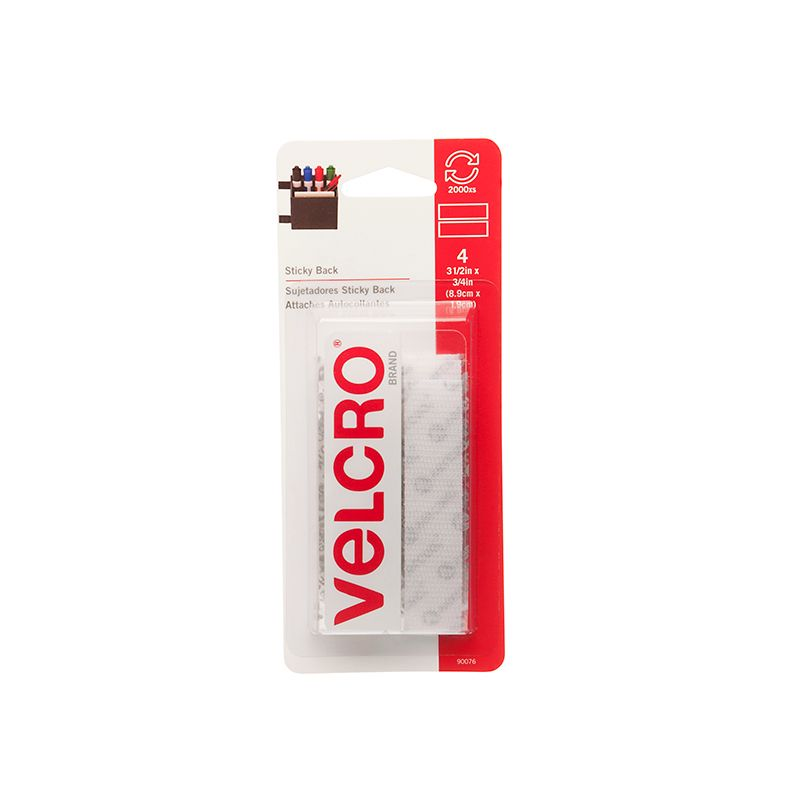 VELCRO TAPE 3/4 X 4 STRIPS WHITE