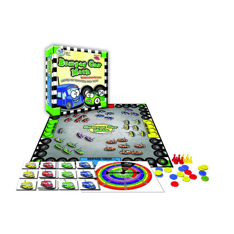 BUMPER CAR MATH GAME MULTIPLICATION