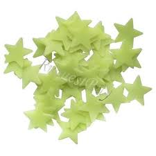 Glow in the Dark Star-Plastic
