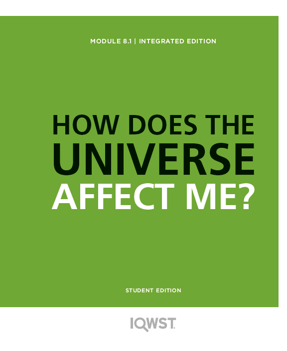 Student Edition 8pack - 8.1 - How Does the Universe Affect Me?